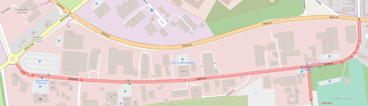 Güterstraße - OpenStreetMap