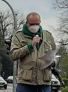 Ulf Berner auf der Kundgebung für Pressefreiheit